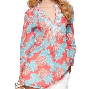 Lilly Pulitzer Beaded Sarasota Tunic Top